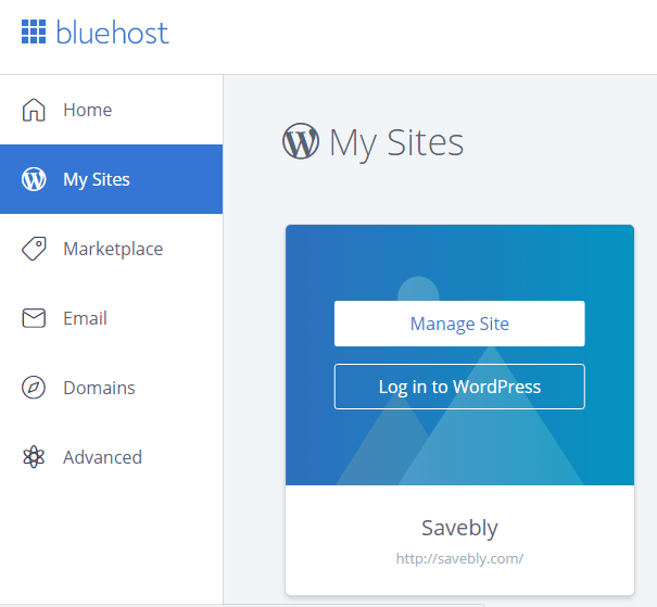 Manage your website or blog on Bluehost