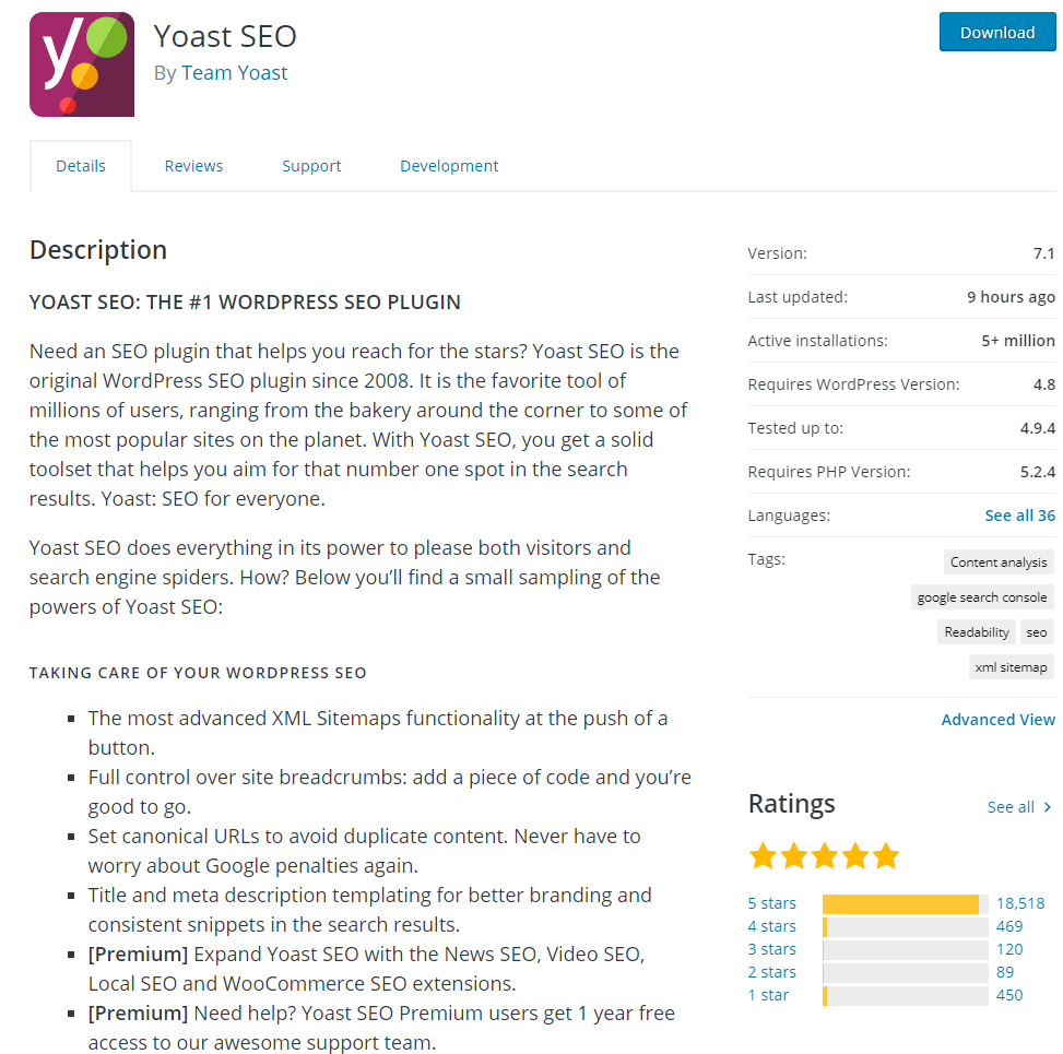 yoast seo wordpress plugin to optimize your website or blog for search engines