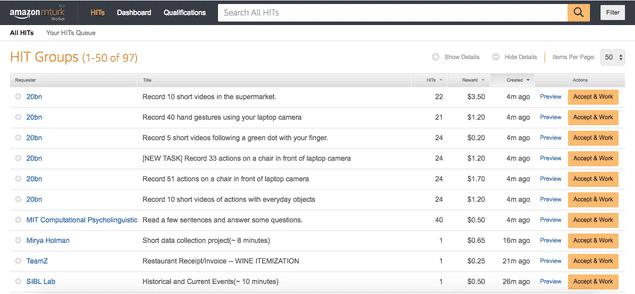 Amazon Mechanical Turk Home Page