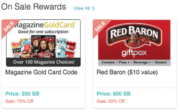 discounted Swagbucks gift cards