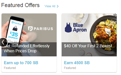 Swagbucks discover featured offers