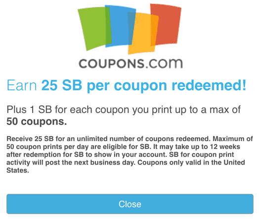 Swagbucks Coupons Redeemed