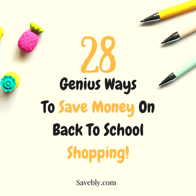 Here are 28 money saving tips for your school shopping lists that help you with your money management and you will save money on back to school supplies and back to school outfits