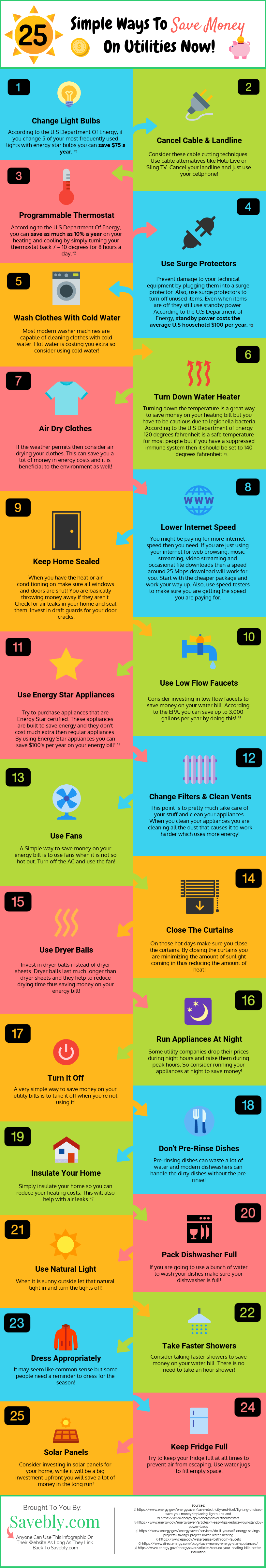 Check out this awesome infographic on how to save money on utilities! These are amazing money saving tips so you can save money easily. These are save money on utilities tips so you should check it out! Learn these save money tips and learn to save money on electric bill! These save money tips will help you to stay in budget and pay off debt with the extra money! Save money on your utility bills with these money saving tips! #savemoney #money #budget #cash