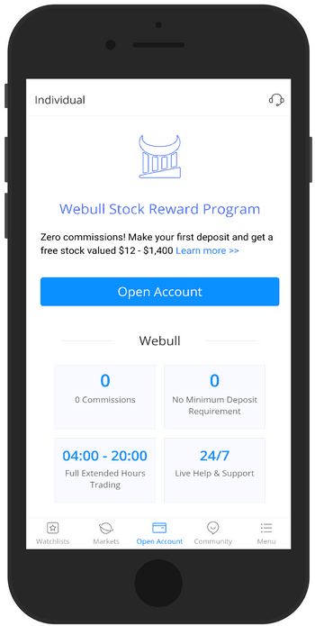 Webull is one of the best investing apps to use