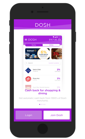 Sign up to Dosh now!
