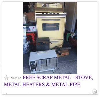 free scrap metal from craigslist