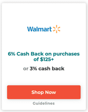 Example of cash back on Affinityy