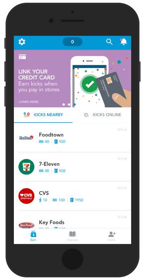 Homescreen of the Shopkick app