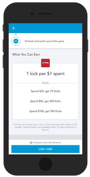 See store point structure when shopping with linked card