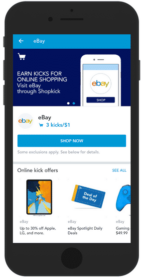 Shop online to earn points