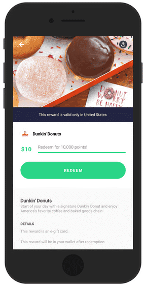 Drop app gift card