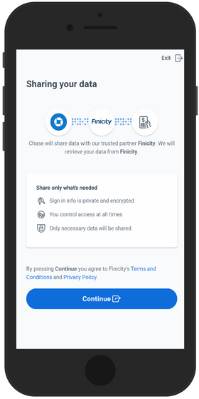 Drop secure card linking