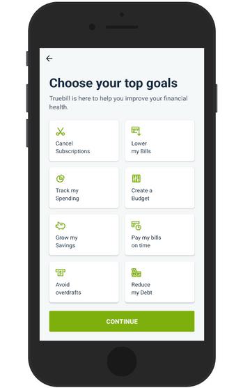 Choose your savings goals