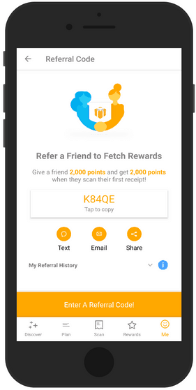 Fetch Rewards Referral Code