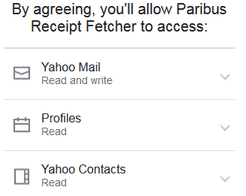 Paribus permissions to email