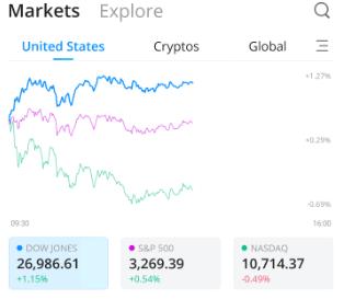 Webull Market Performance