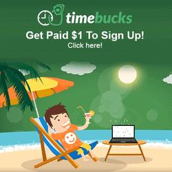 Timebucks Sign Up Bonus