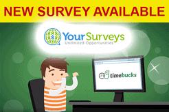 Take surveys on Timebucks